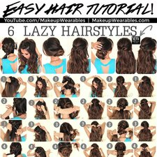 6 Easy Lazy Hairstyles Tutorial