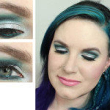 dramatic teal cut crease tutorial  makeup  bellashoot
