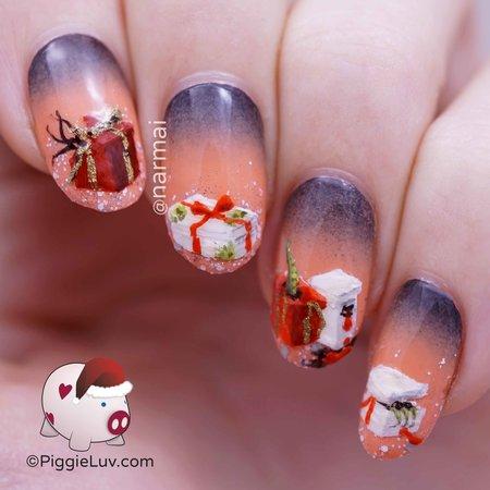 Demonic Christmas Presents Nail Art Nails Bellashoot