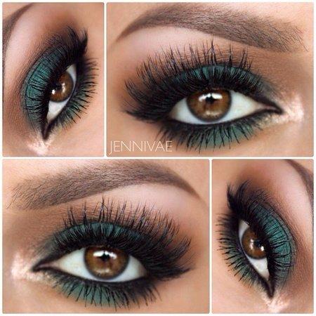 Dark Green Eyeshadow Idea! - Makeup | Bellashoot