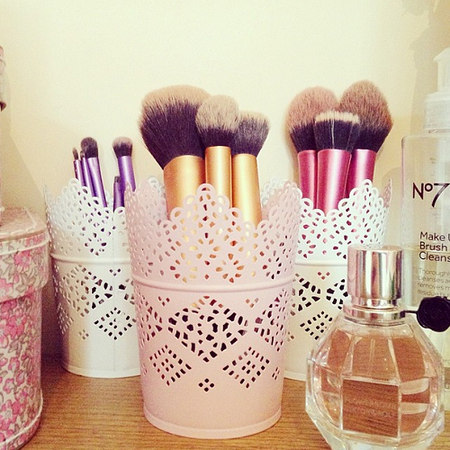 cute makeup brush holder  makeup  bellashoot