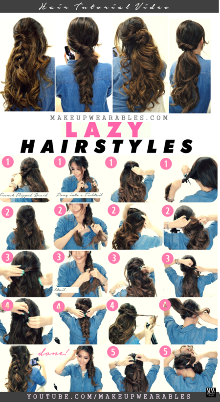 4 Easy Lazy Hairstyles For Fall Amp Winter Tutorial Beauty
