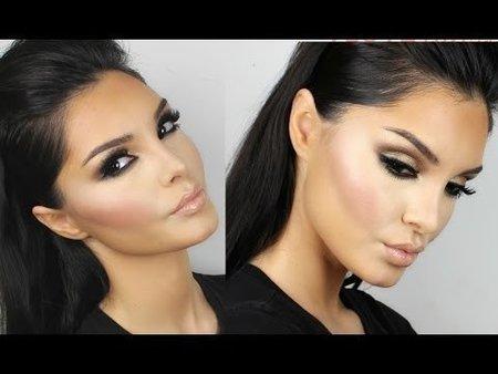 Kim Kardashian Makeup Tutorial New Brown Smokey Eyes ...