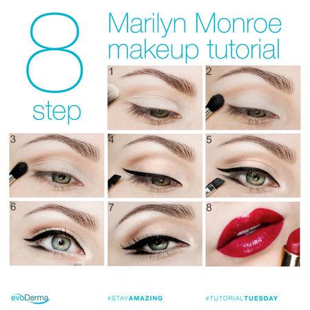 8 Step Marilyn Monroe Makeup Celebrity Looks Bellashoot