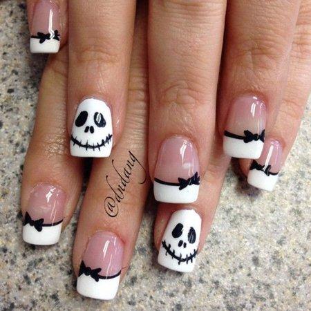 halloween black  white nailart  nails  bellashoot