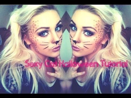beginners halloween sexy cute cat makeup tutorial  makeup